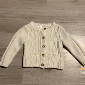 Carter's cable knit cardigan